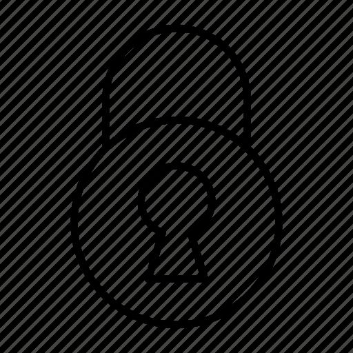 key, lock, padlock, protect, secure icon