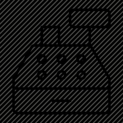 cash, clerk, money, register, service icon