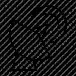 antenna, parabolic, receiver, signal, wavelength icon