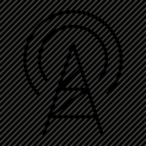 gsm, signal, spread, tower, wavelength icon