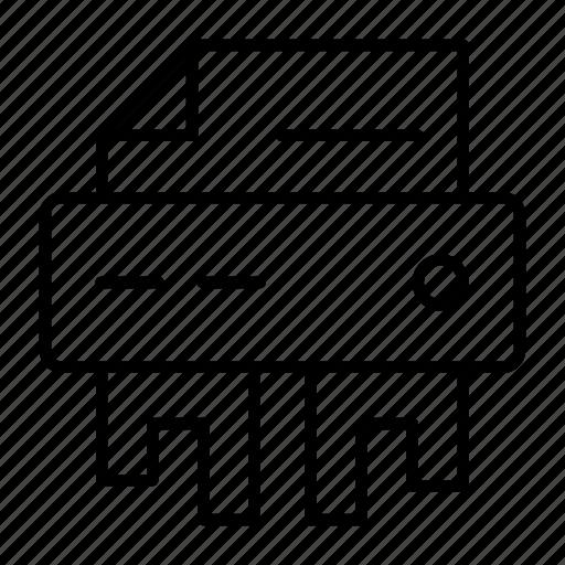 measurement, paper, secret, security, shredder icon