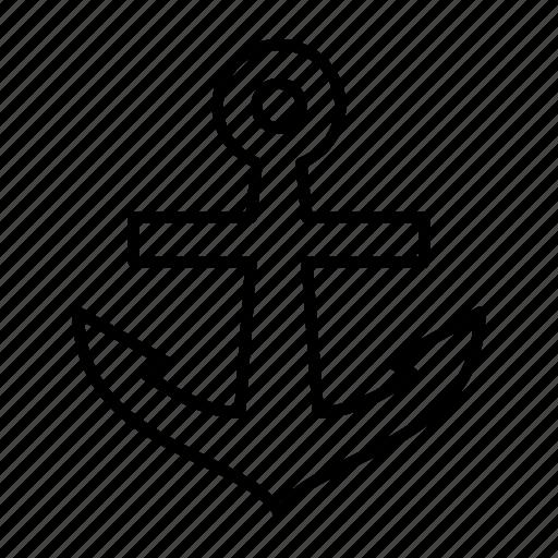anchor, boat, cruise, sea, vessel icon