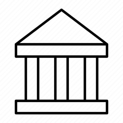 apartment, building, business, institution, pillars icon