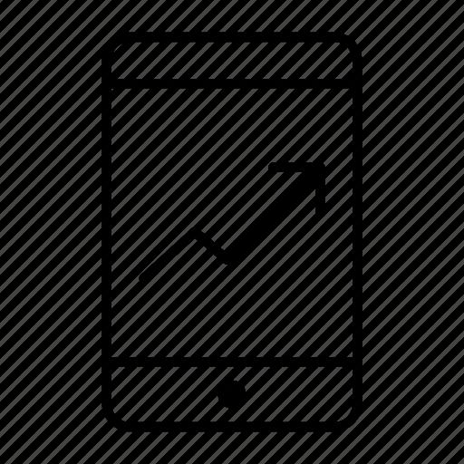 chart, graph, mobile, progress, stat icon