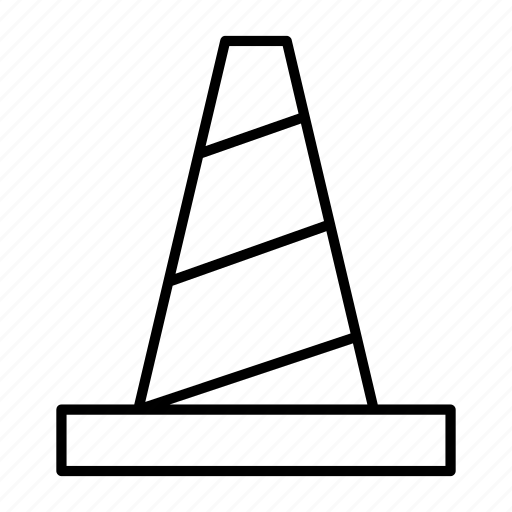cone, police, post, street, traffic icon