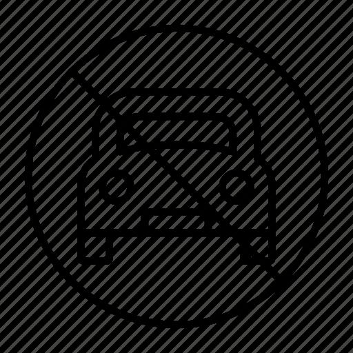 car, location, no, parking, spot icon