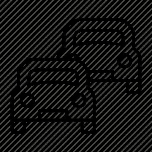 automobile, car, queue, traffic, vehicle icon
