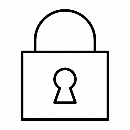 closed, key, lock, padlock, security icon