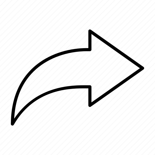 arrow, forward, reply, right, send icon