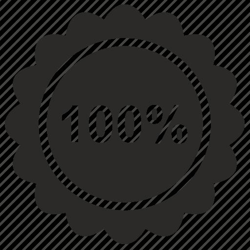 full, guarantee, label, price, pro, quality icon