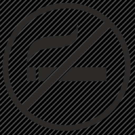 cancel, no, place, smoke, smoking icon