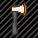 axe, hatchet, tool, construction