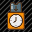 clock, card, time, timer