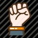 fist, hand, gesture, labor day