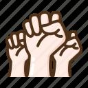 punch, hand, gesture, fist