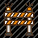 road, barrier, direction, blocker