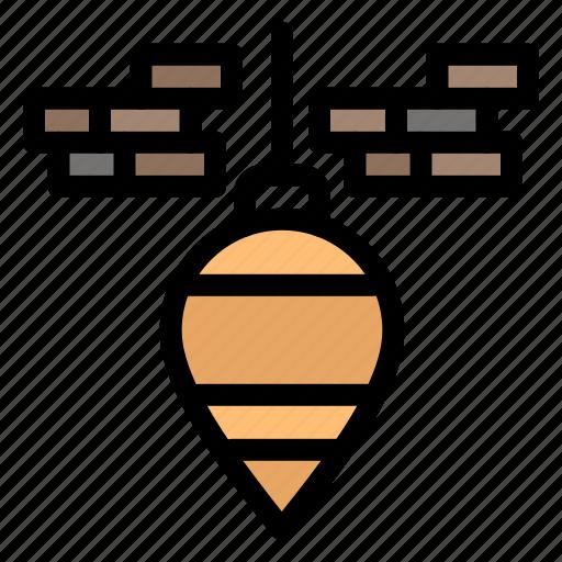 bob, plumb, tool icon