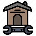 house, household, repair, tool, wrench icon