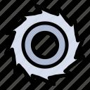 blades, cutter, line icon