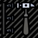 erroneously, hammer, inefficient, screw icon