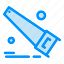 hand, saw, tools icon