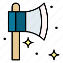 axe, construction, equipment, tool, manual, hatchet