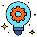 engineering, gear, idea, innovation, bulb