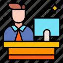 receptionist, customer, service, help, desk, support, user