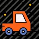 lifter, delivery, fork, lift, forklift, truck, vehicle