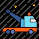 breakdown, crane, delivery, tow, truck