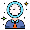 clock, time, working, hours, user, avatar