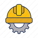 day, gear, halmet, labor, labour icon