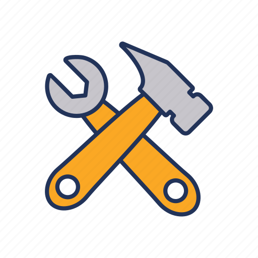 day, hammer, labor, labour, wrench icon