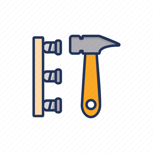 day, hammer, labor, labour, nails icon
