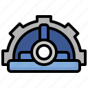 helmet, reverse, engineering, construction, tools, occupation, worker icon