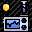 tube, bulb, experiment, light, education, test, monitor icon
