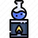 burner, chemical, chemistry, education, flask, test, tube
