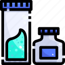 bottle, experiment, flask, lab, laboratory, plastic, substance icon