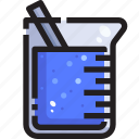 beaker, chemistry, container, containers, education, glass, liquid