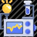 bulb, education, experiment, light, monitor, test, tube icon