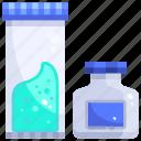 bottle, experiment, flask, lab, laboratory, plastic, substance