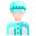 avatar, chemicals, lab, laboratory, scientist, technician icon