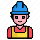 worker, man, construction, building, house, male, avatar