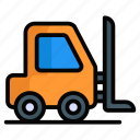 forklift, lifter, lifting, loader, shipping, truck, fork lift