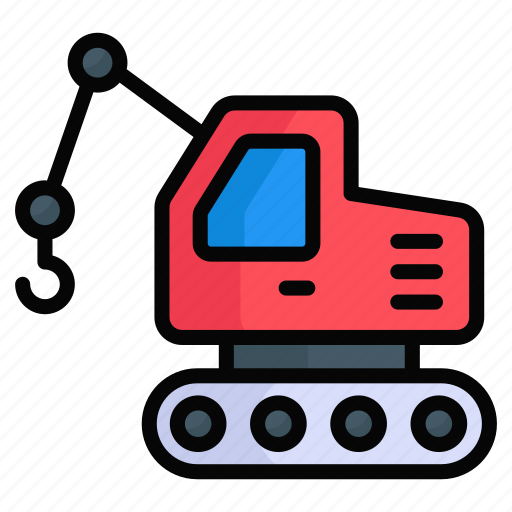Building, construction, crane, engineering, excavator, lifting, machinery icon - Download on Iconfinder