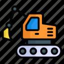 excavator, bulldozer, crane, machinery, construction, heavy machinery
