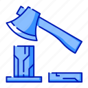 axe, carpentry, hatchet, lumberjack, tool, wood