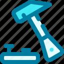 hammer, handyman, tool, work, worker icon