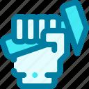 hammer, hand, handyman, tool, work, worker icon