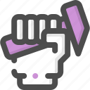 hammer, hand, handyman, tool, work, worker icon